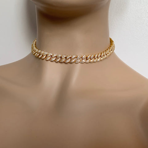 Mini Cuban Necklace - Yellow Gold