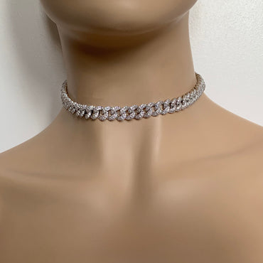 Mini Cuban Necklace - Silver