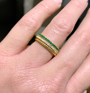 Micro Pavé Eternity Band - Yellow Gold