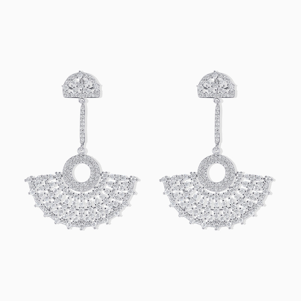 Micro Pavé Fan Earrings