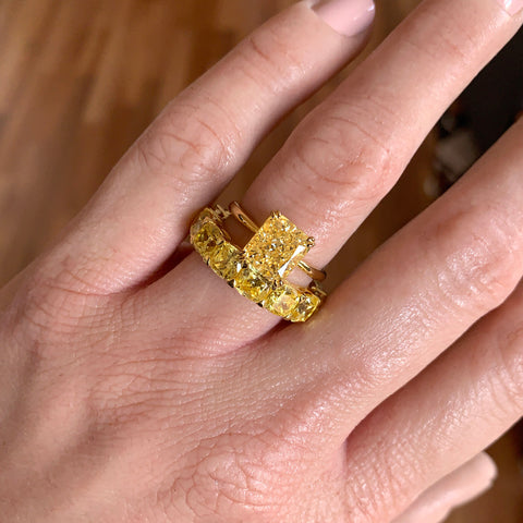 ERIS | 3ct Yellow Radiant Cut Ring