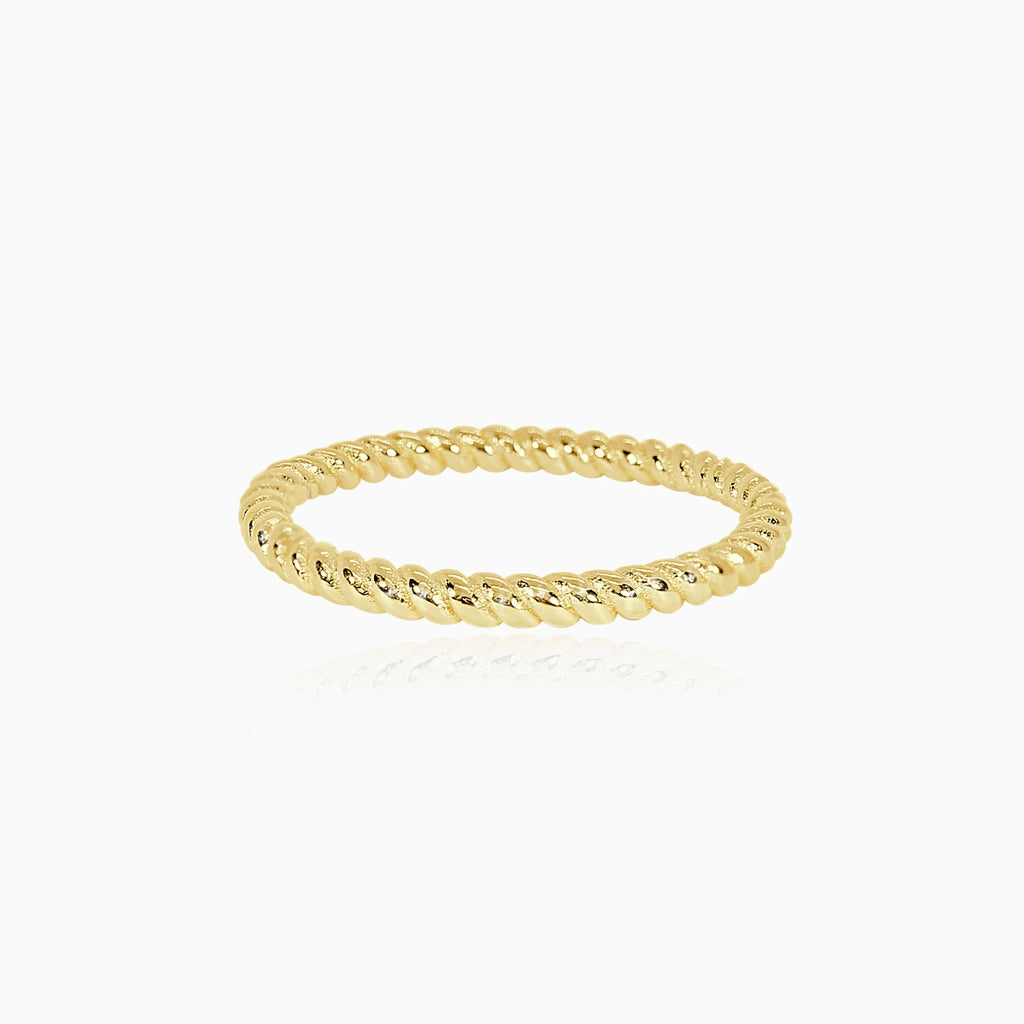 Gold Rope Band Ring