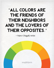 All colours are the friends of their neighbours and lovers of their opposites
