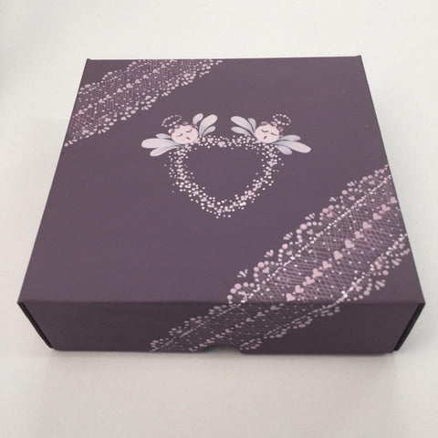 Painted box using our Series One lace and angel designs - available from www.folkit.co