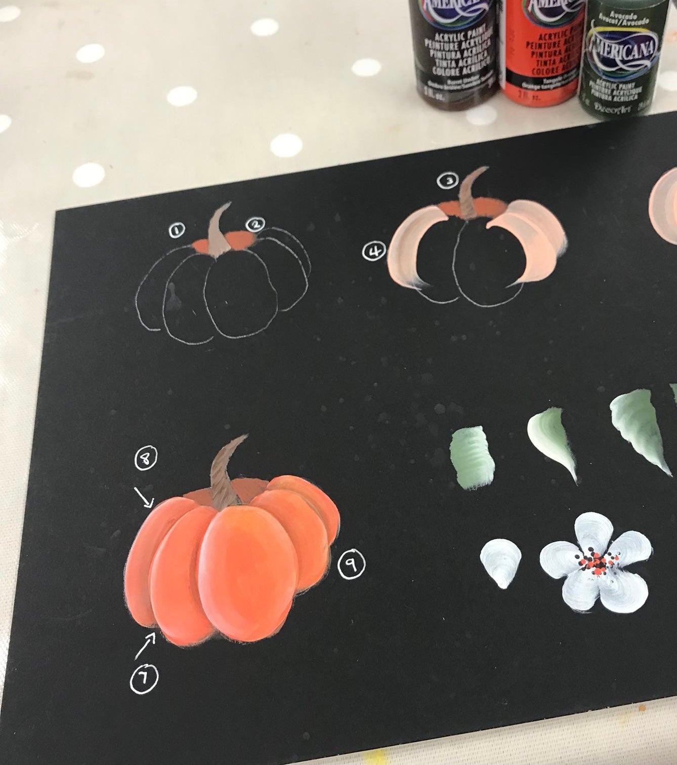 How to paint pumpkins this autumn - You Can Folk It how to painting tutorial