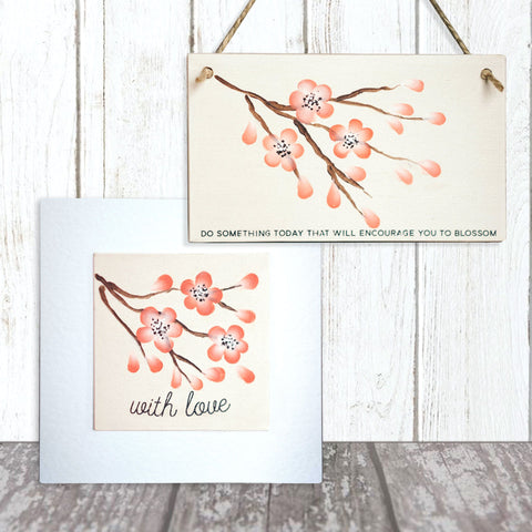 You Can Folk It projects from their Oriental Blossom kit