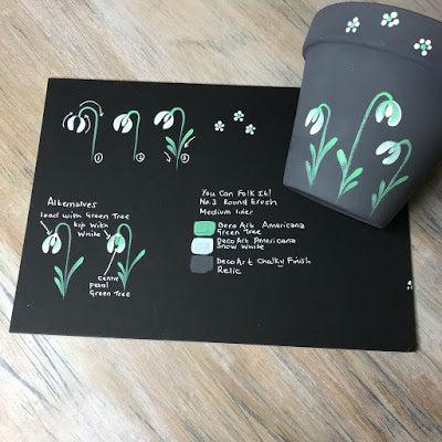 Snowdrop plant pot and instructions