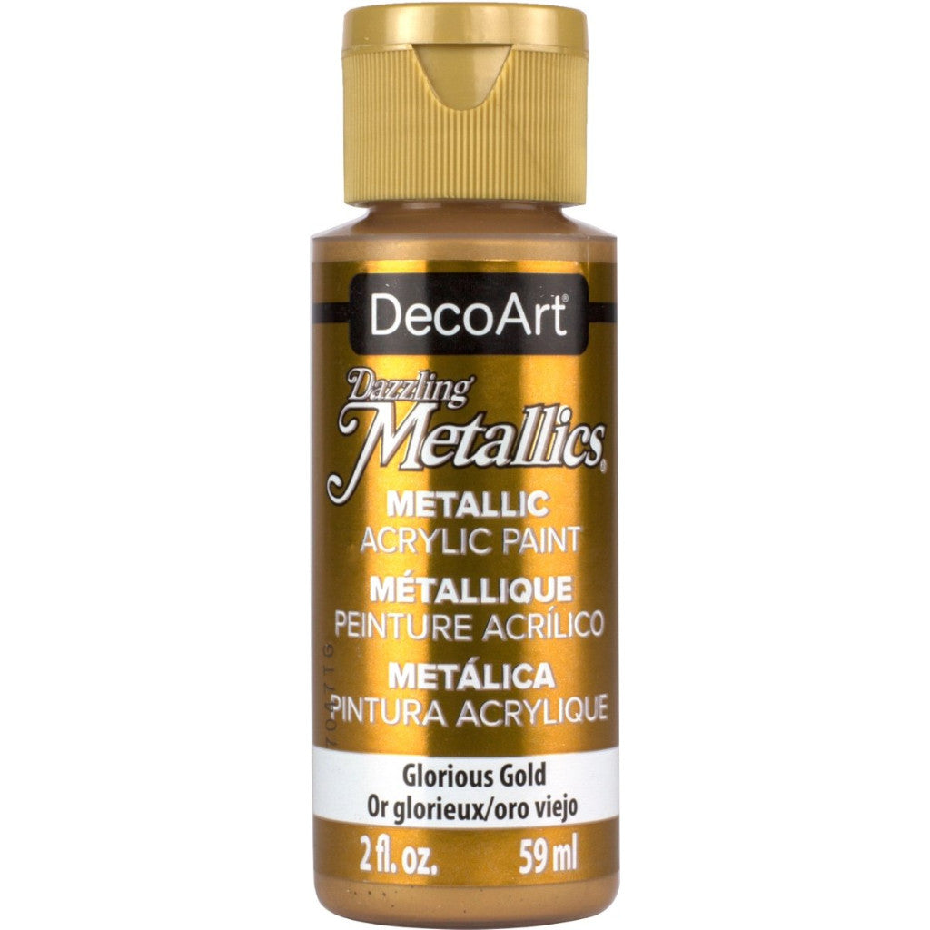 DecoArt Dazzling metallic 2oz bottle in Glorious Gold
