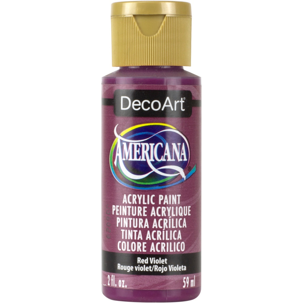 DecoArt Americana acrylic 2oz bottle in Red Violet