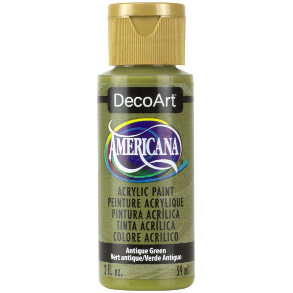 DecoArt Americana acrylic, Antique green, folk art paint, painting