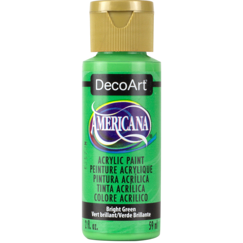 DecoArt Americana acrylic in Bright Green - perfect for Folk Art painting