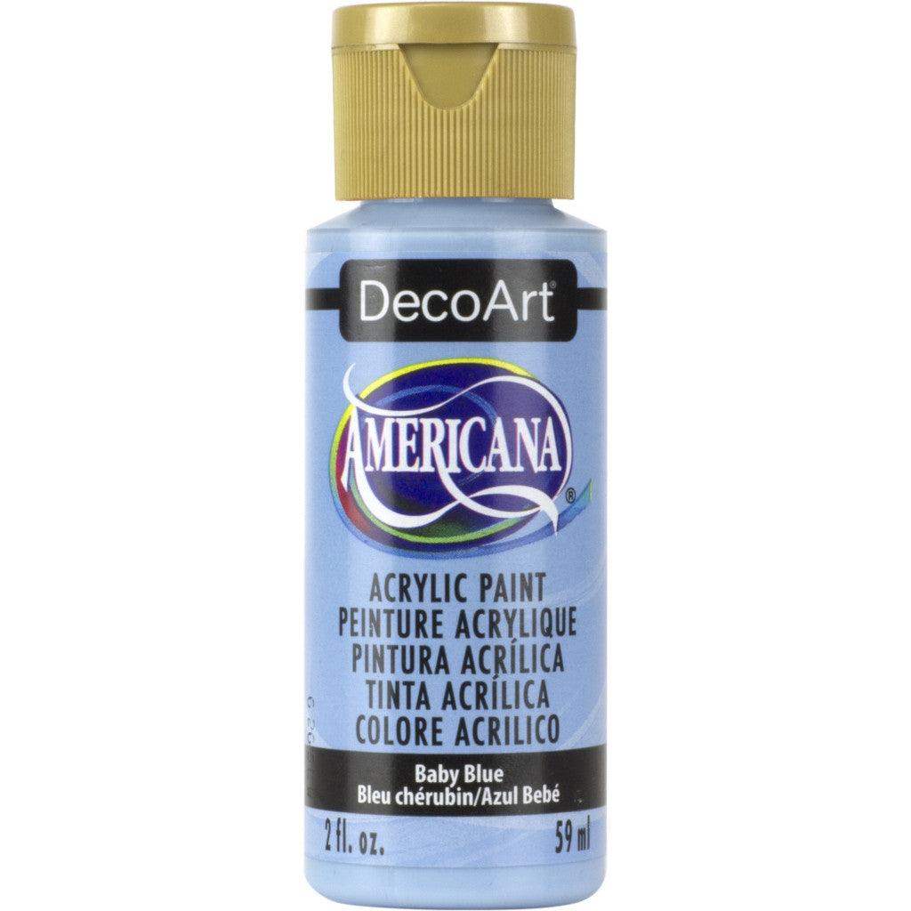 DecoArt Americana acrylic in Baby Blue - perfect for Folk Art painting