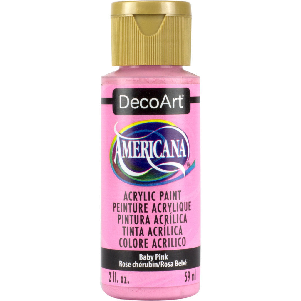 DecoArt Americana acrylic in Baby Pink - perfect for Folk Art painting