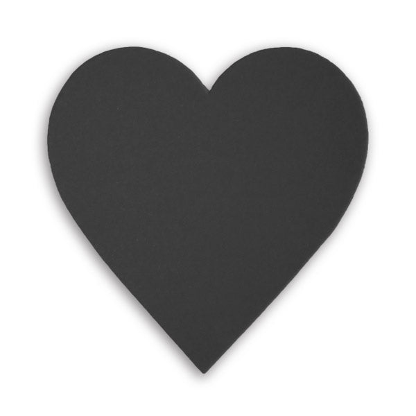 Black core mount board hearts