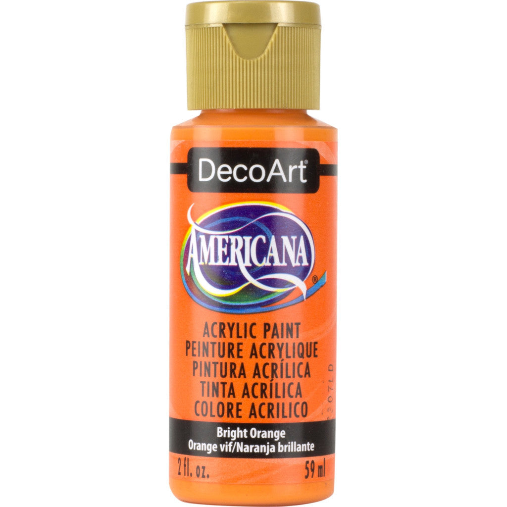 DecoArt Americana acrylic in Bright Orange - perfect for Folk Art painting