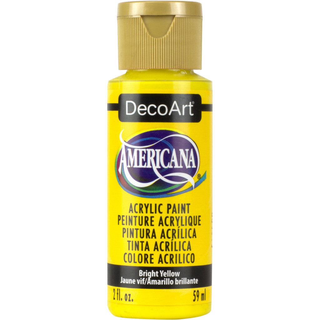 DecoArt Americana acrylic in Bright Yellow - perfect for Folk Art painting