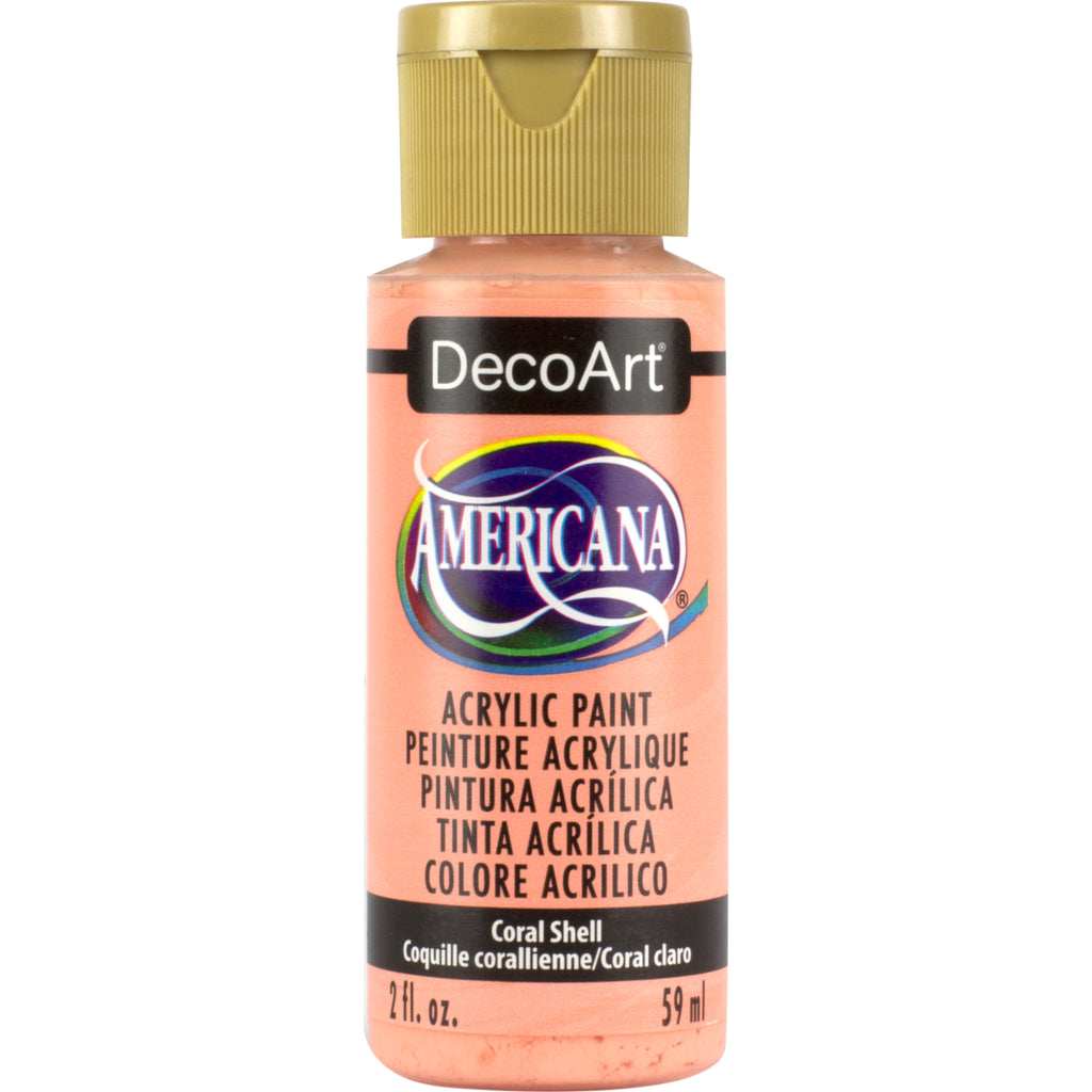 DecoArt Americana acrylic in Coral Shell - perfect for Folk Art painting