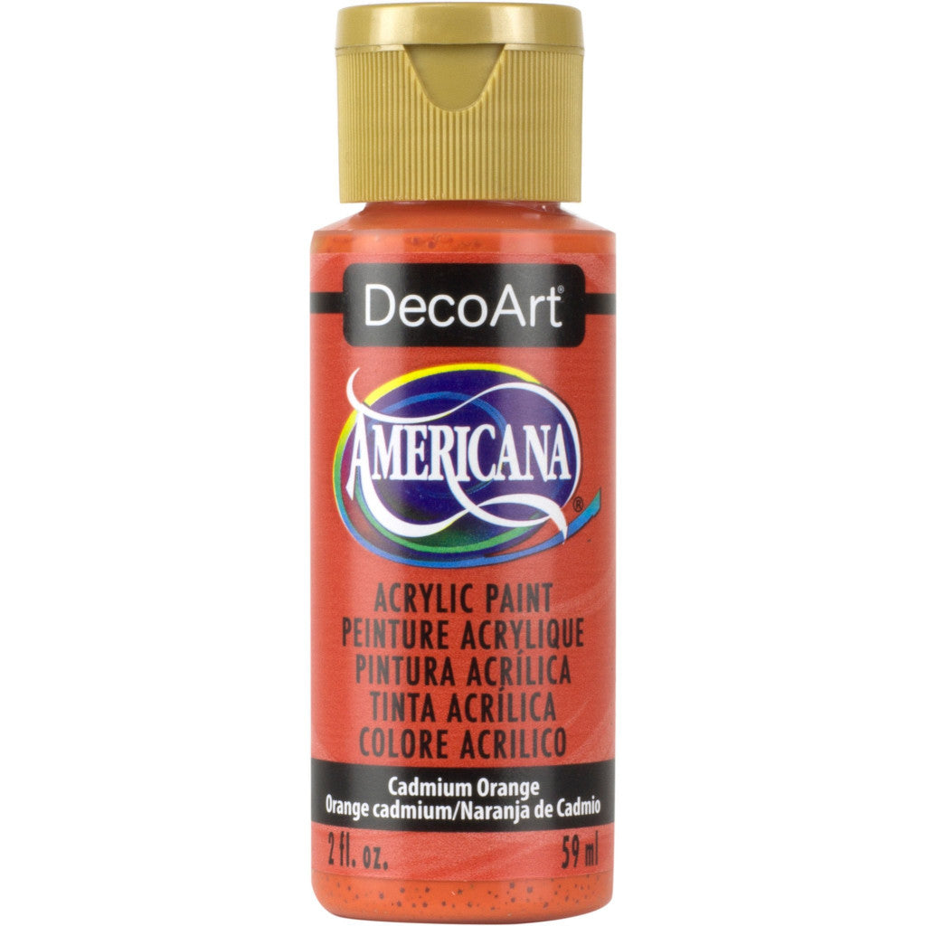 DecoArt Americana acrylic in Cadmium Orange - perfect for Folk Art painting