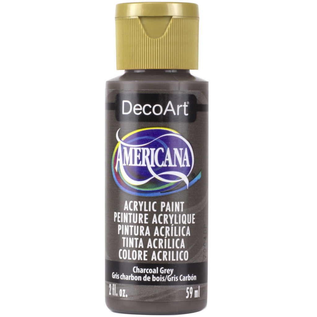 DecoArt Americana acrylic in Charcoal Grey - perfect for Folk Art painting
