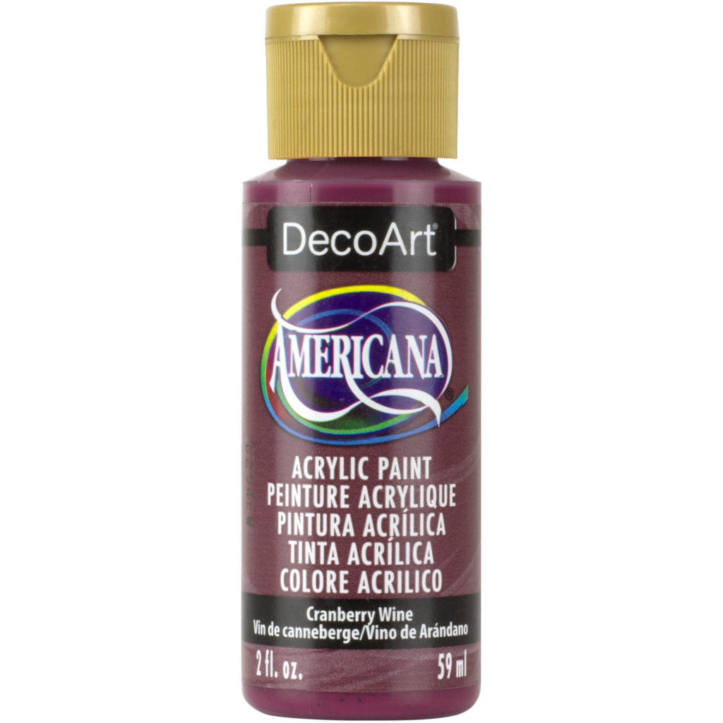 DecoArt Americana acrylic in Cranberry Wine - perfect for Folk Art painting