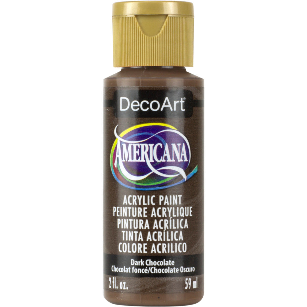 DecoArt Americana acrylic in Dark Chocolate - perfect for Folk Art painting
