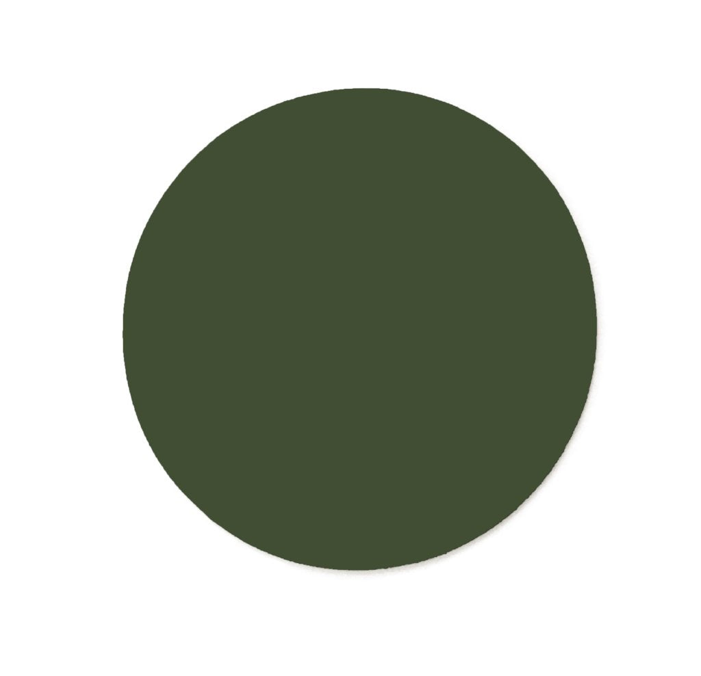 Deep Forest Green Circle - pack of 10