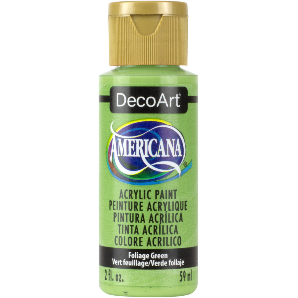 DecoArt Americana acrylic in Foliage Green - perfect for Folk Art painting