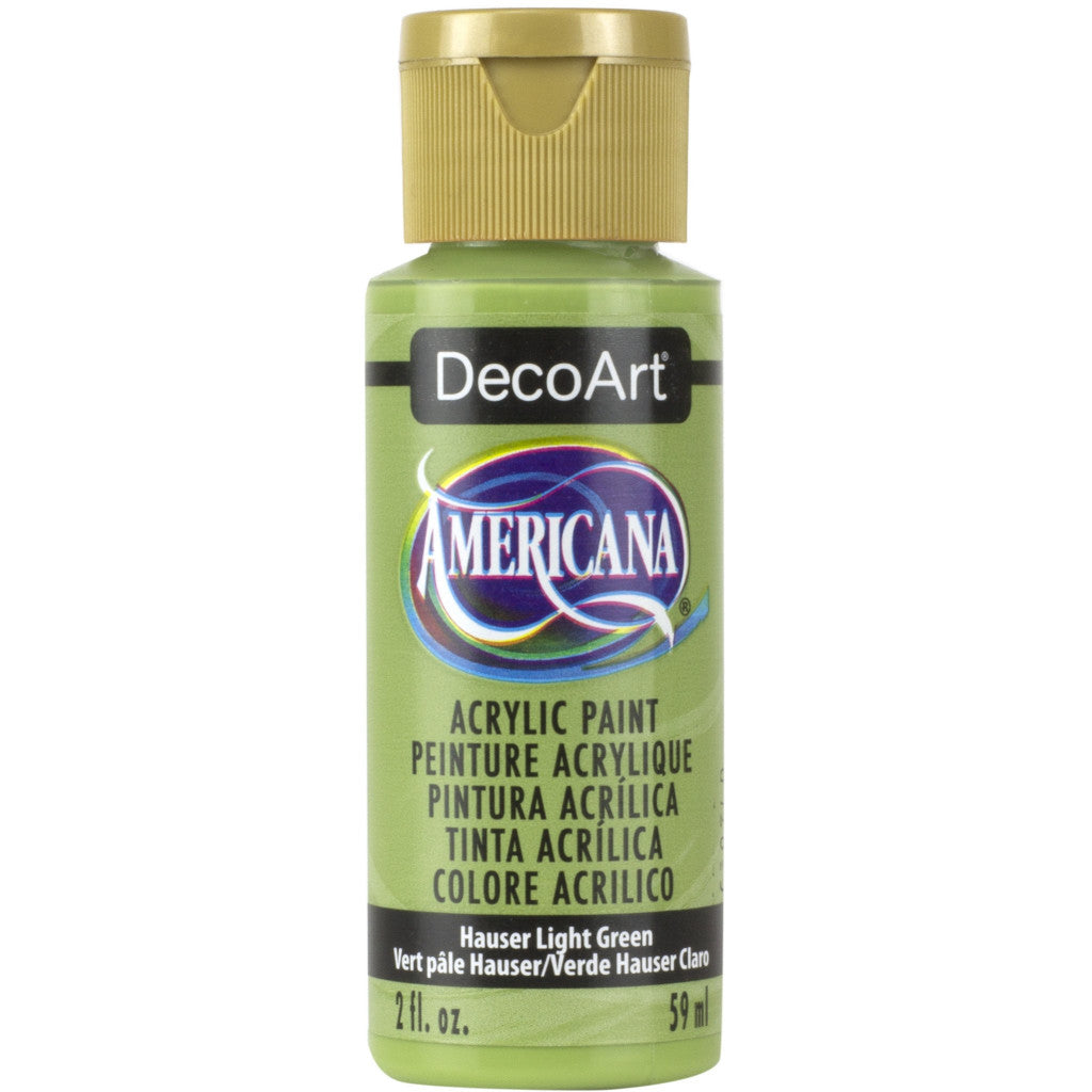 DecoArt Americana acrylic in Hauser Light Green - perfect for Folk Art painting
