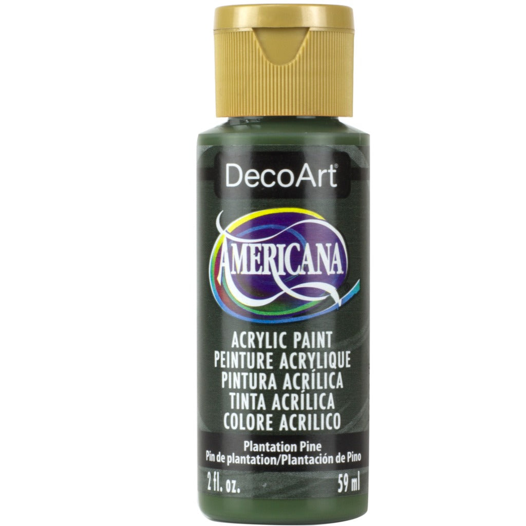 DecoArt Americana acrylic in Plantation Pine, perfect for Folk Art painting