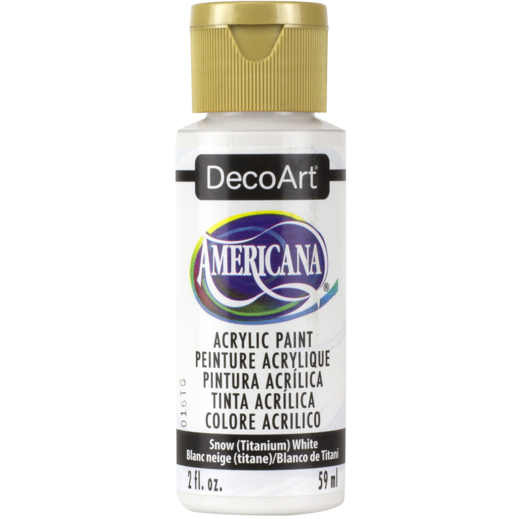DecoArt American acrylic in Snow (Titanium) White - perfect for Folk Art painting