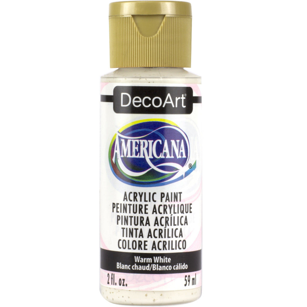 DecoArt American acrylic in Warm White - perfect for Folk Art painting