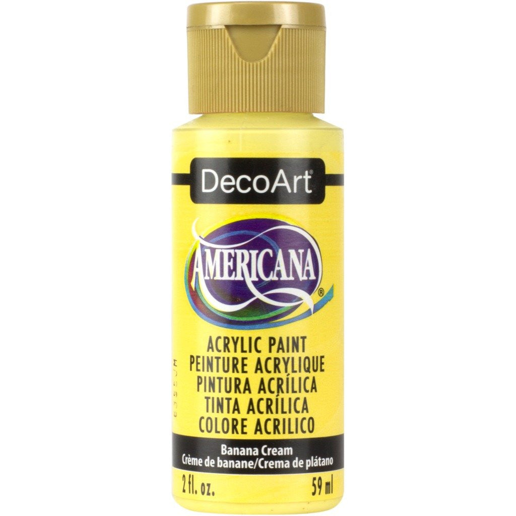 DecoArt Americana acrylic, Banana Cream folk art paint, painting