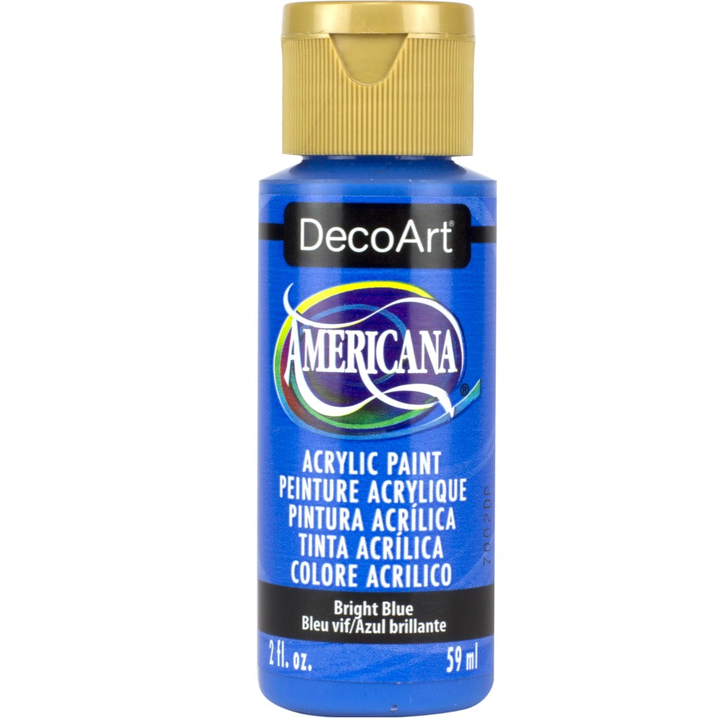 DecoArt Americana Acrylic paint in Bright Blue - perfect for Folk Art painting