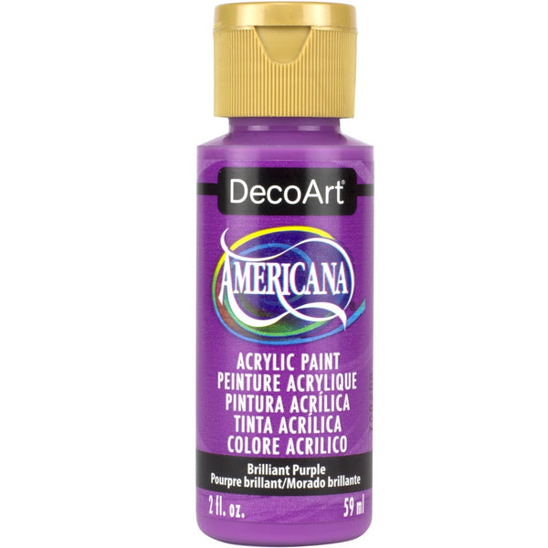 DecoArt Americana acrylic in Brilliant Purple - perfect for Folk Art painting