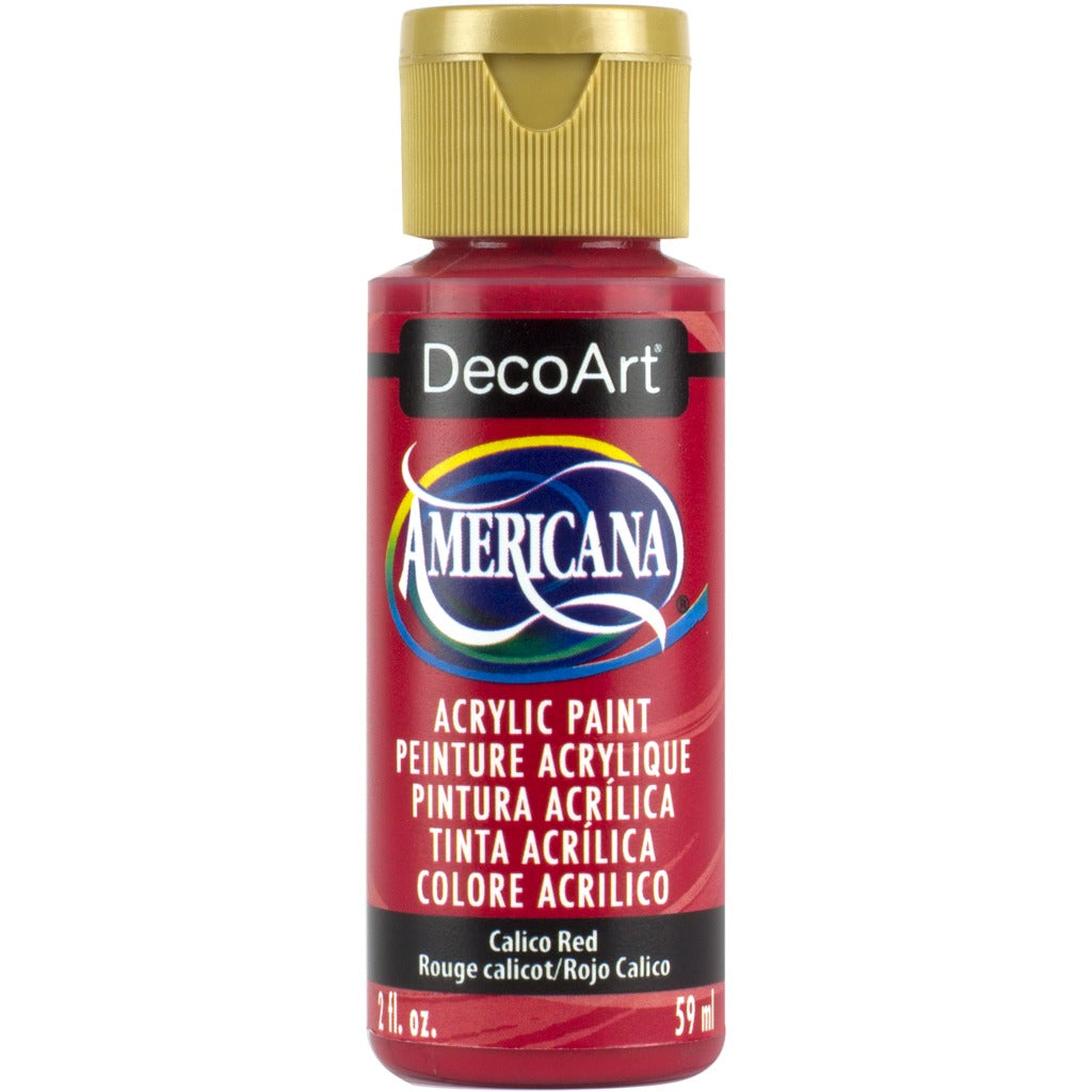 DecoArt Americana acrylic, Calico Red, folk art paint, painting