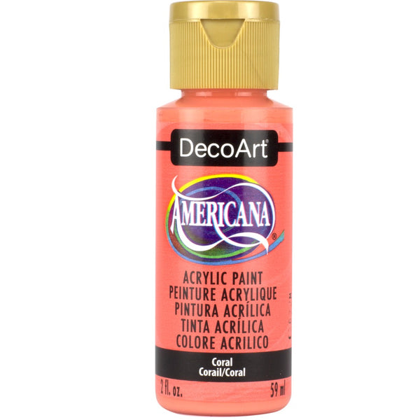 DecoArt Americana acrylic in Coral - perfect for Folk Art painting