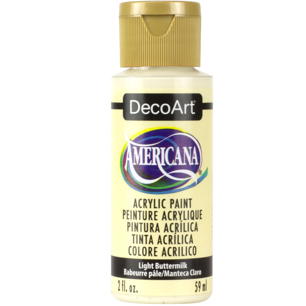 DecoArt Americana in Light Buttermilk. Perfect for Folk Art painting
