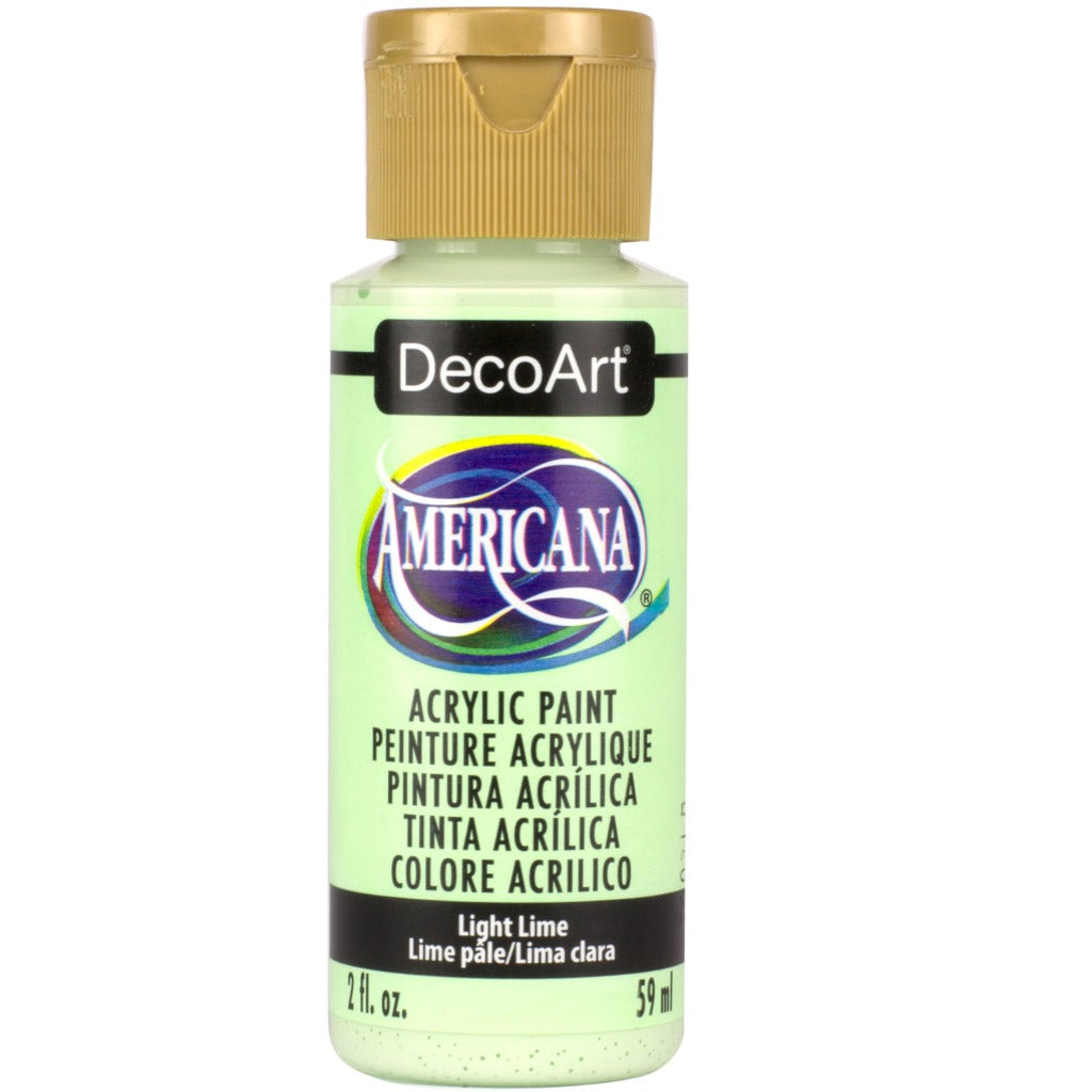 DecoArt American acrylic in Light Lime - perfect for Folk Art painting