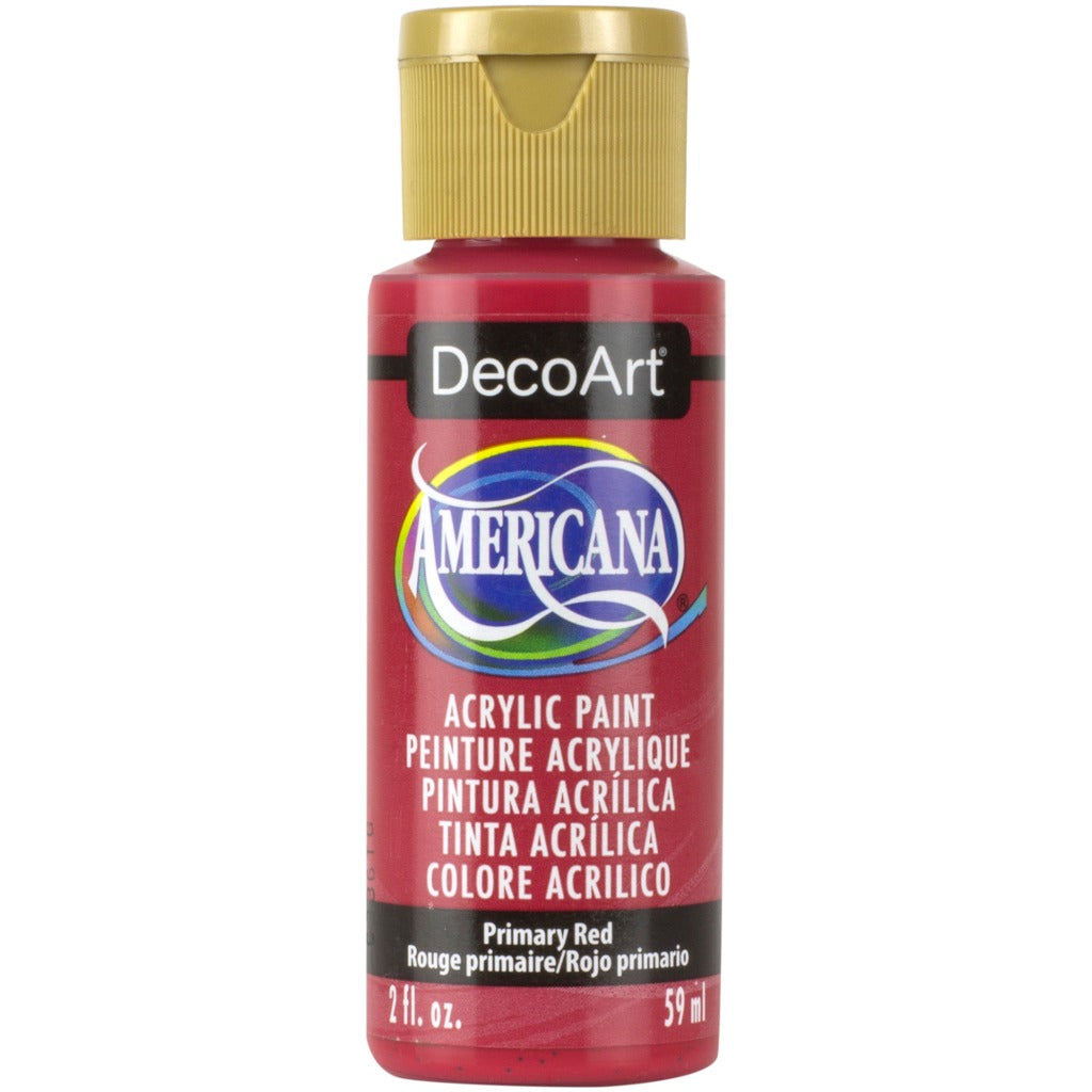 DecoArt Americana acrylic, Primary Red, folk art paint, painting