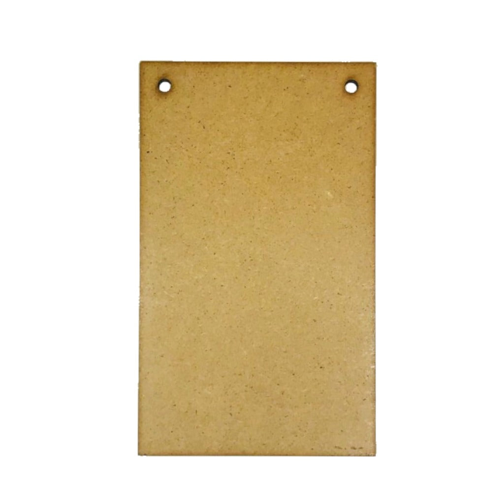 MDF blank shape rectangular portrait