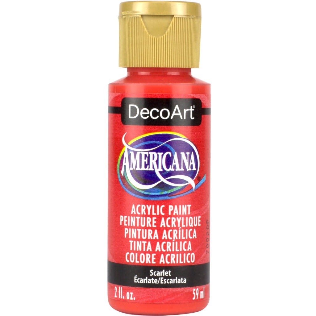 DecoArt American Acrylic in Scarlet - perfect for Folk Art painting