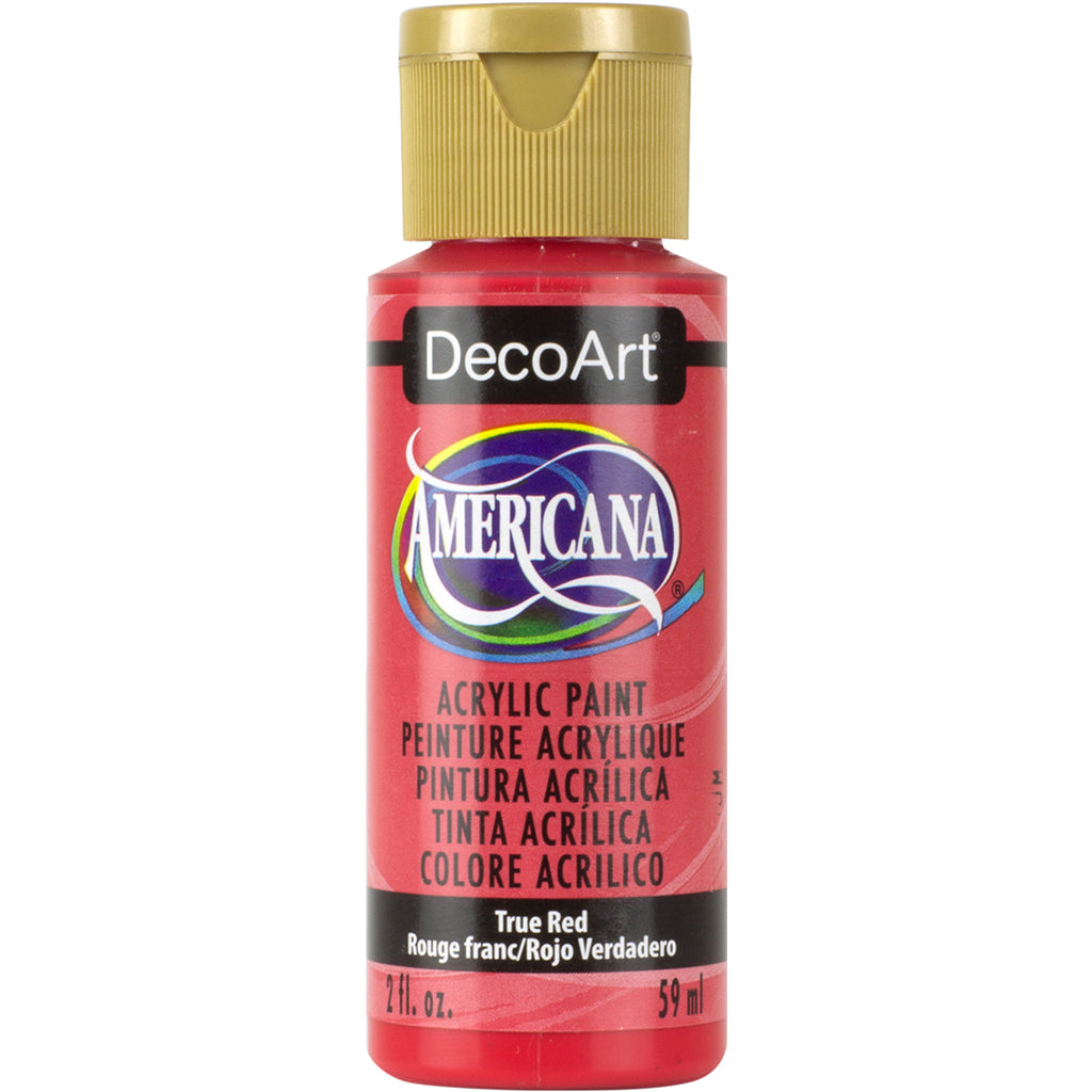 DecoArt Americana Acrylic in True Red - 2oz bottle