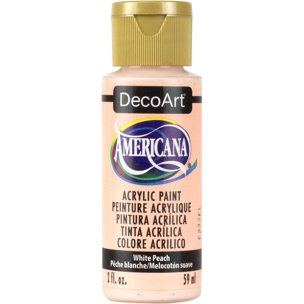 2oz bottle White Peach DecoArt Americana acrylic paint