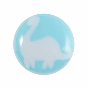 blue dinosaur button