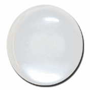 Polyester Shank Button: 28 lignes/18mm: White