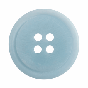 Ombre Rimmed Button: 4 Hole: 20mm: Light Blue