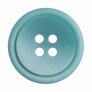 Ombre Rimmed Button: 4 Hole: 20mm: Mid Blue
