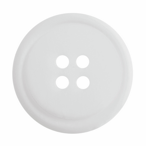 Ombre Rimmed Button: 4 Hole: 20mm: White