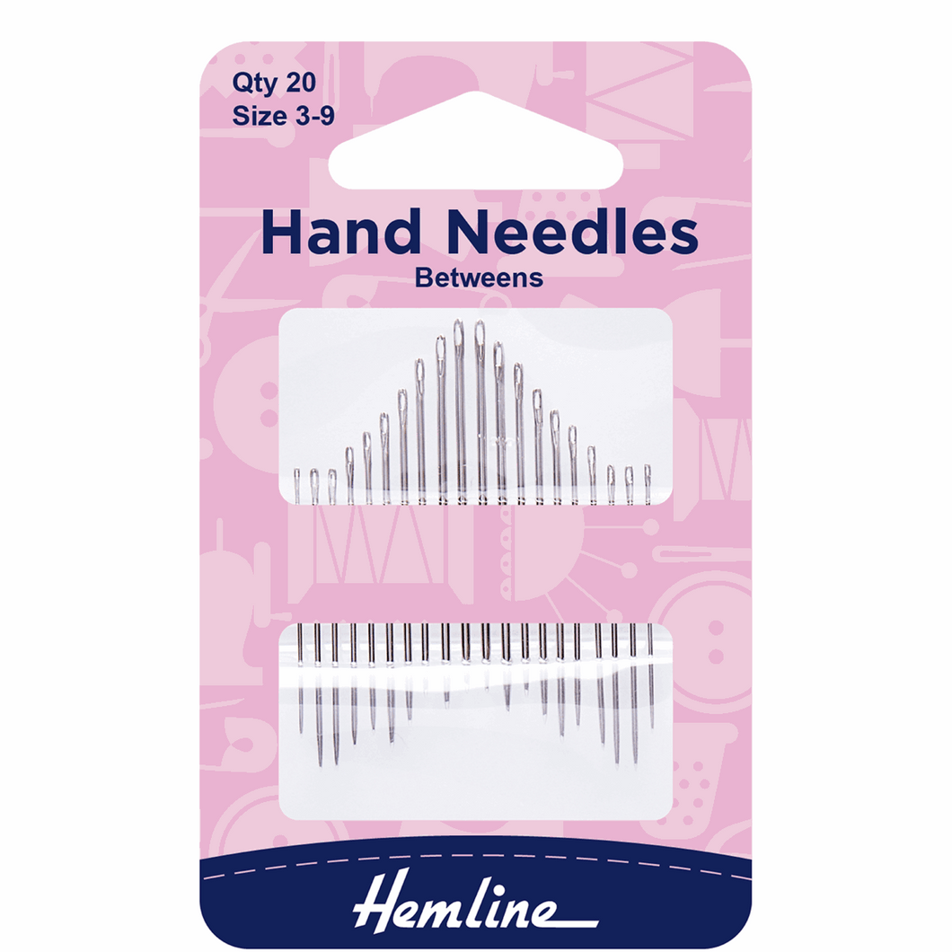 Hand Sewing Needles: Between/Quilting: Size 3-9