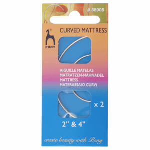 Hand Sewing Needles: Mattress: Curved: 2 and 4 inches